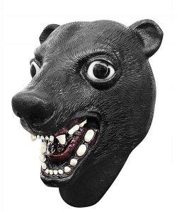 Maska lateksowa - Miś Czarny