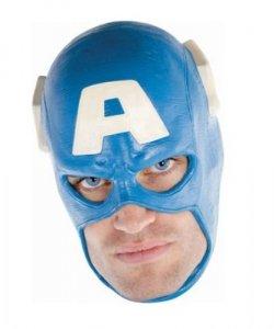 Maska lateksowa - Kapitan Ameryka