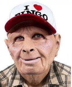 Maska lateksowa - Staruszek Bingo