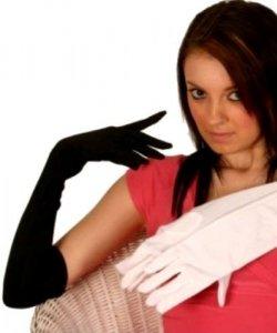 Rękawiczki - Czarne Długie 48 cm