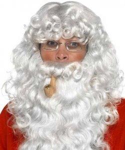 Pełny zarost - Święty Mikołaj z fajką