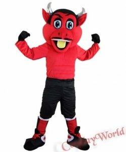 Chodząca żywa duża maskotka - Diabeł Piłkarz