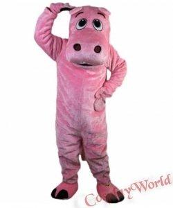 Chodząca żywa duża maskotka - Pink Hipcio