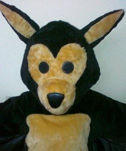 Głowa chodzącej maskotki - Nietoperz