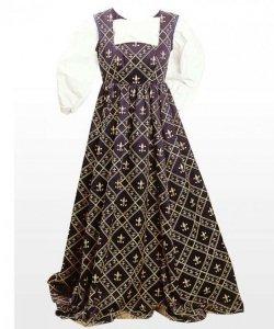 Kostium teatralny - Średniowieczna suknia Fleur de Lis
