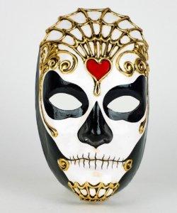 Maska wenecka - Volto Morte Maschile