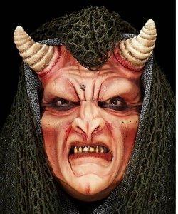 Maska klejona na twarzy - Demon Deluxe