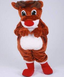 Strój chodzącej maskotki - Renifer Rudolf