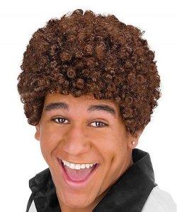 Peruka Afro - Jheri Curl Brown