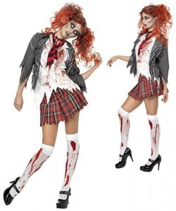 Strój na Halloween - High School Horror Zombie Girl M