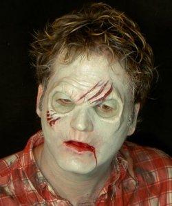 Maska klejona na twarzy - Zombie