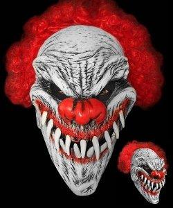 Maska lateksowa - Horror Klaun Pożeracz