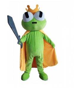 Strój chodzącej maskotki - Żaba Król z mieczem