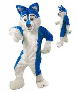 Strój chodzącej maskotki - Blue Husky