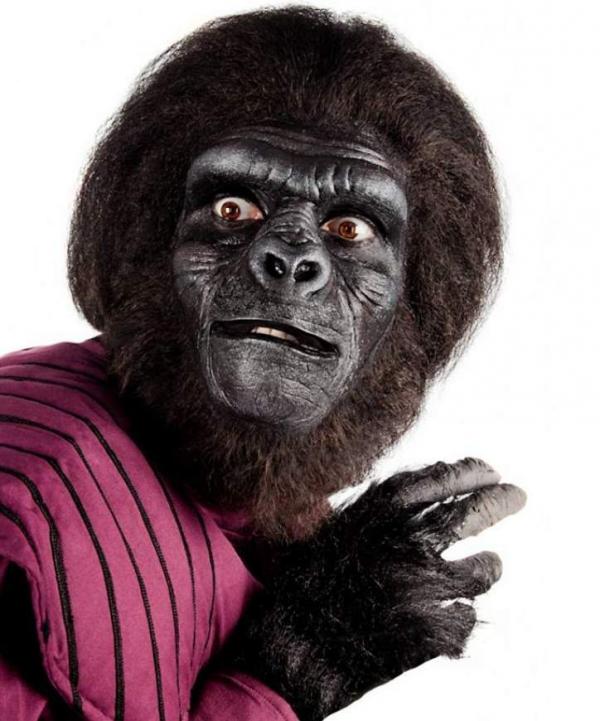 Goryl maska klejona do twarzy