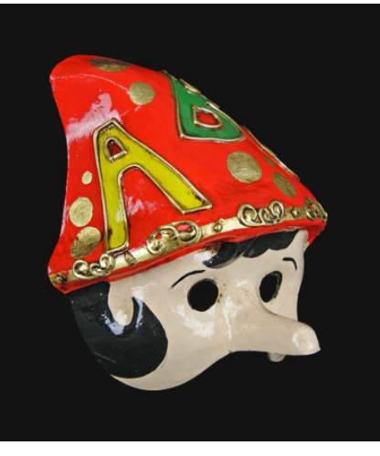 Maska wenecka - Pinocchio Bimbi ABC Red