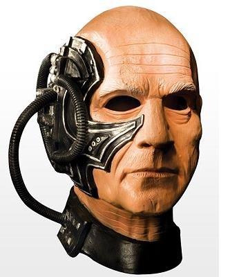 Maska lateksowa - Star Trek Borg