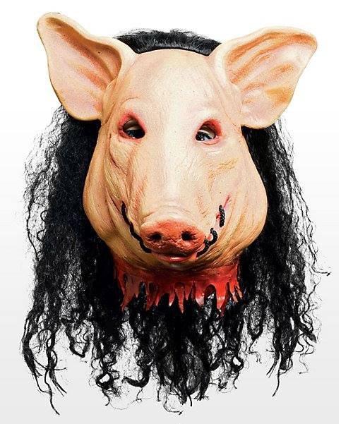 Maska lateksowa - The Saw Pig