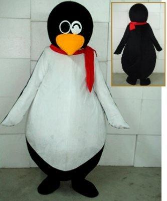Strój reklamowy - Pingwin w szaliku