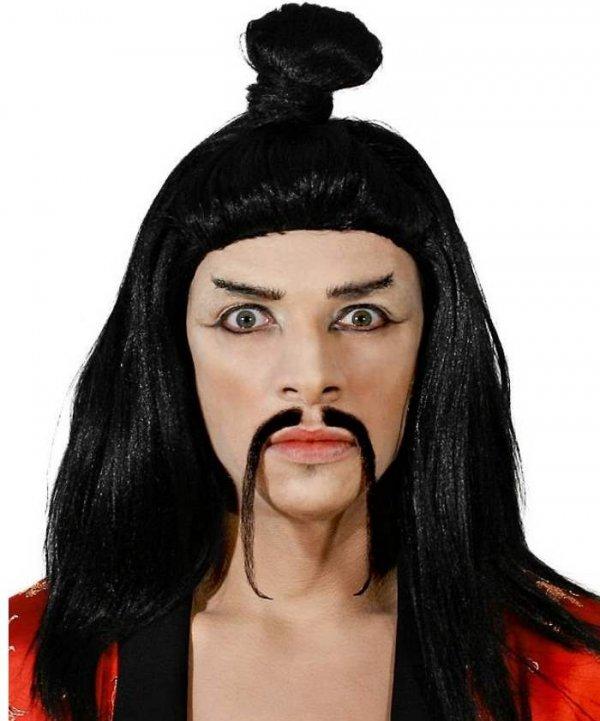 Mistrz Sensei peruka z rozpuszonymi włosami