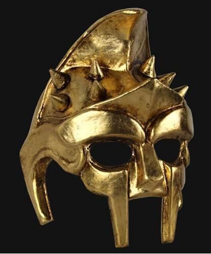 Maska wenecka - Gladiatore Gold