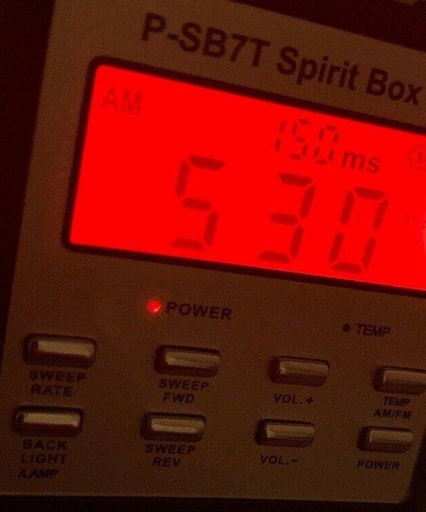 Spirit Box P-SB7T zdjęcie wyświetlacza