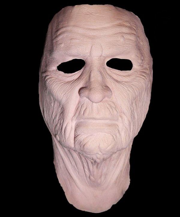 Staruszek widok maski od przodu