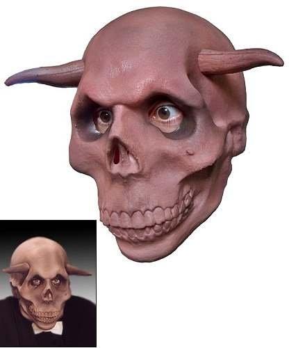 Maska lateksowa - Czaszka z rogami