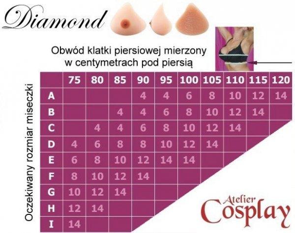 Piersi z z silikonu - Amoluxury Diamond 14