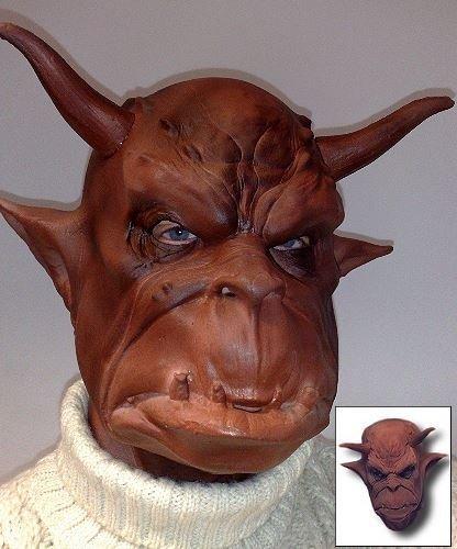 Maska lateksowa - Belzebub
