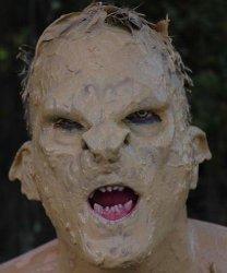Maska klejona na twarzy - Ork Warrior