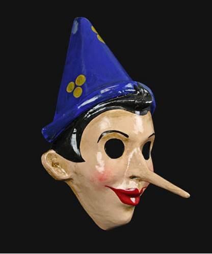 Maska wenecka - Pinocchio Benigni Blue