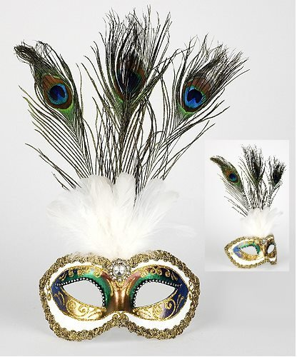 Maska wenecka - Colombina Festa Strass Fantasia