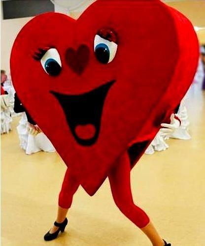Chodząca maskotka - Wielkie Walentynkowe Serce
