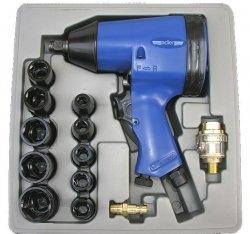 Zestaw klucz udarowy pneumatyczny 354Nm 1/2 + Nasadki AD007Z