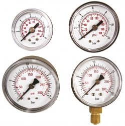 ADLER Wskaźnik ciśnienia 0-12bar 1/8 tylny