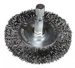 HITACHI Szczotka kołowa z trzpieniem 75x1/4BITx0,3mm falowana