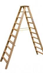 Stabilo drabina dwustronna drewniana ze stopniami 2x10