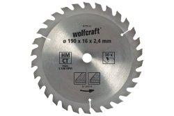 Wolfcraft Piła tarczowa 150x16mm HM 20 z. dokładne cięcia