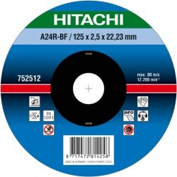 HITACHI Tarcza do cięcia metalu stali 125x2,5x22,2mm płaska - PREMIUM