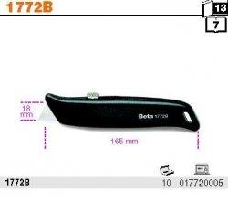 Beta 1772/B Nóż z ostrzem 18 mm chowanym ostrze zapasowe w uchwycie