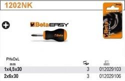 Beta 1202NK/4.5X30 Wkrętak krzyżowy Phillips krótki 4.5x30 blister