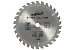 Wolfcraft Piła tarczowa 150x20mm HM 20 z. dokładne cięcia