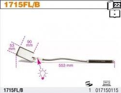 Beta 1715FL/B Lusterko inspekcyjne prostokątne giętkie z podświetleniem 553mm