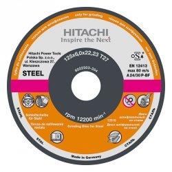 HITACHI Tarcza do szlifowania stali A24P 125x6,0x22,2mm - STANDARD