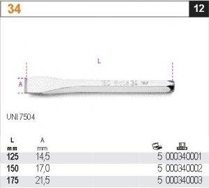 Beta 34/125 Przecinak płaski 125mm