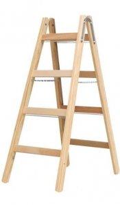 Stabilo drabina dwustronna drewniana ze stopniami 2x4