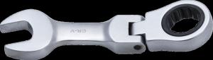BGS Klucz płasko-oczkowy 12mm grzechotka i przegub