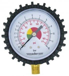 ADLER Wskaźnik ciśnienia gwint boczny M10x1, 0-12 bar