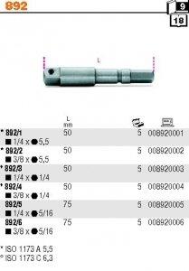 Beta 892/0 Uchwyt nasadki z 1/4 na kwadrat 1/4